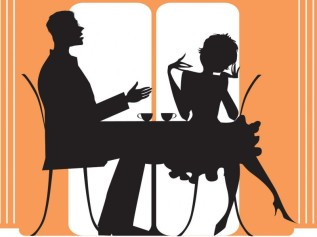 Dining Couple - Coffee - cropped
