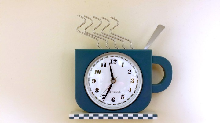 Coffee Cup Clock - A minimalist moment in time